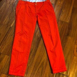 Zara  Orange chino pants.    Size 8